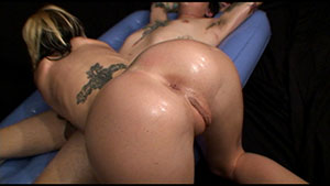 Handjob video performed by Erin Taylor on a cum filled cock featured on HandDomination.
